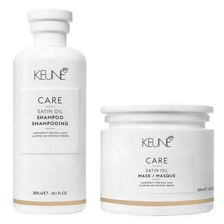 Keune Care Satin Oil Kit - Shampoo + Máscara Kit