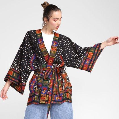 Kimono Farm Serpente de Flor Feminino