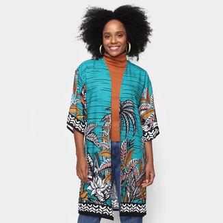 Kimono Mercatto Estampado Feminino