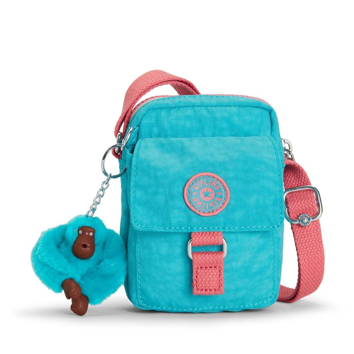 a4db3ba22 Kipling Mini Bolsa Teddy Feminina - Azul Turquesa | Menor preço com ...