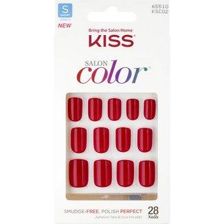 Kiss New York Unhas Postiças Salon Color Curto Cor New Girl