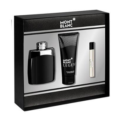 Kit 1 Perfume Montblanc Legend EDT 100ML + 1 Creme Pós Barba 10ml + 1 Miniatura Perfume Masculino