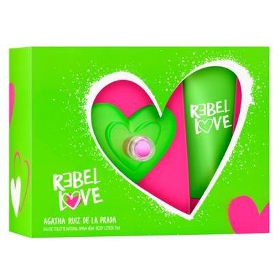 Kit 1 Rebel Love Agatha Ruiz De La Prada Eau De Toilette 80Ml + 1 Body Lotion 75Ml-Feminino