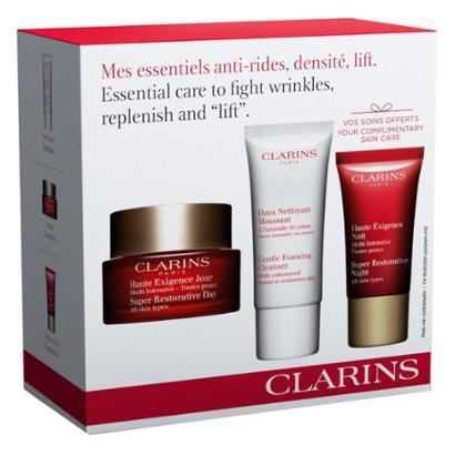 Kit 1 Rejuvenescedor Facial Clarins Super Restorative Day 50ml + 1 Mousse 30ml + 1 Hidratante 15ml