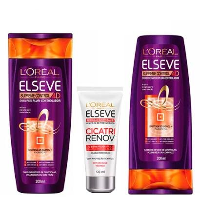 Kit 1 Shampoo Supreme Control 4D 200ml 1 Condicionador Supreme 200ml 1 Leave-In 50ml