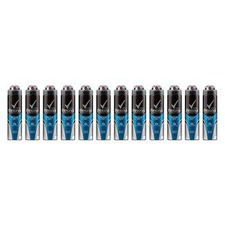 Kit 12 Desodorantes Rexona Aerosol Antitranspirante Active Masculino 150ml