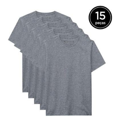 Kit 15 Camisetas Basicamente Masculino