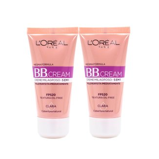 Kit 2 BB Cream L'Oréal Paris cor Clara FPS 20 30ml