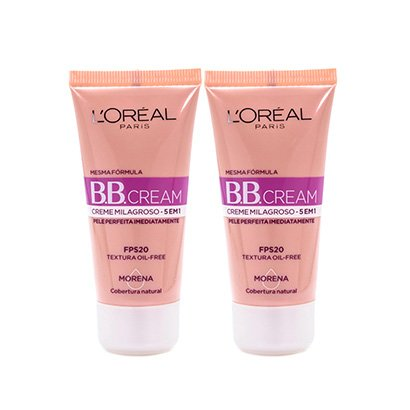 Kit 2 Bb Cream L'oréal Paris Cor Morena Fps 20 30Ml-Feminino