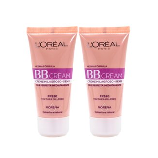 Kit 2 BB Cream L'Oréal Paris cor Morena FPS 20 30ml