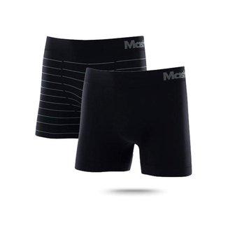Kit 2 Boxer Sem Costura Lisa/Listrada Mash Sortidas - 711.02