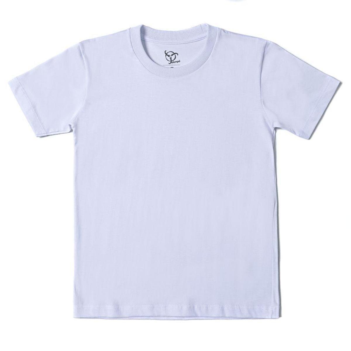 Kit 2 Camisetas Infantil Jokenpô Básica Masculina - Branco