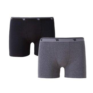 Kit 2 cuecas boxer masculina cotton plus size trifil