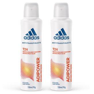 Kit 2 Desodorantes Adidas Adipower Aerossol Feminino 150ml