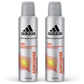 Kit 2 Desodorantes Adidas Adipower Aerossol Masculino 150ml