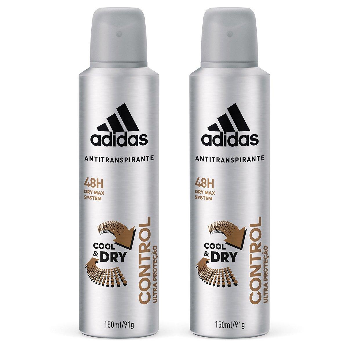 6028fd050a Kit 2 Desodorantes Adidas Cool & Care Control Aerossol Masculino 150ml |  Zattini