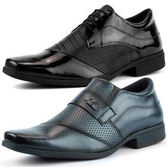 Kit 2 Pares Sapato e Bota Social DHL Calçados Masculino