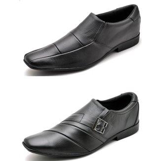 Kit 2 Pares Sapato Social Masculino Top Franca Shoes