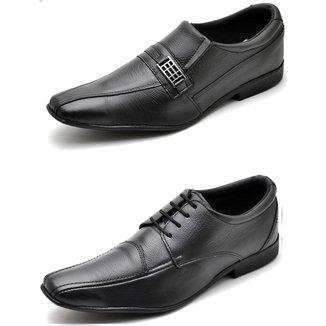 Kit 2 Pares Sapato Social Top Franca Shoes Masculino