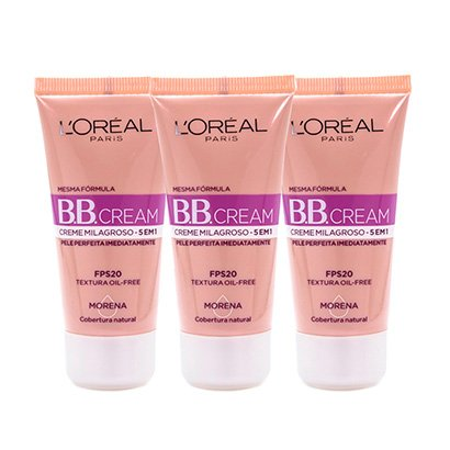Kit 3 Bb Cream L'oréal Paris Cor Morena Fps 20 30Ml-Feminino