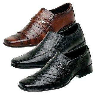 Kit 3 Sapatos Social Masculino Couro Elegante Conforto