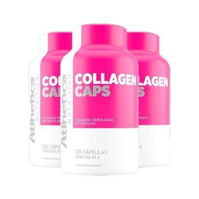 Kit 3X Collagen Caps Ella Atlhetica 120 Cápsulas-Feminino