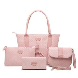Kit 4 Bolsas Feminina Luxo Fashion Willibags  Imperdível
