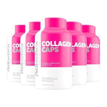 Kit 5 X Collagen Caps Ella   Atlhetica 120 Caps.-Feminino