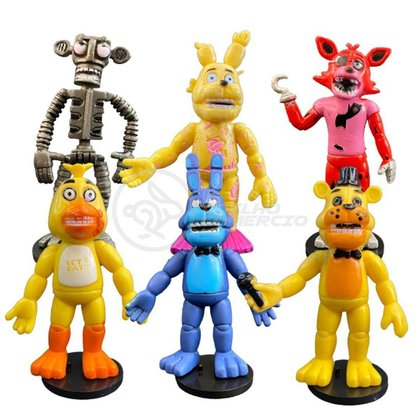 Kit 6 Bonecos Bonequinhos Five Nights At Freddy 's FNAF Brinquedo Infantil Criança Action Figure