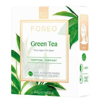 Kit 6 Máscaras Faciais Foreo UFO Mask Green Tea