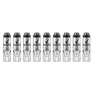 Kit 9 Desodorantes Rexona Men Aerosol Antitranspirante Sem Perfume 150ml