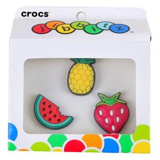 Kit Acessório Para Crocs Infantil Jibbitz Frutas Feminino 3 Peças