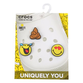 Kit Acessório Para Crocs Infantil Jibbitz Smiley Feminino 3 Peças