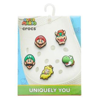 Kit Acessório Para Crocs Infantil Jibbitz Super Mario 5 Unidades