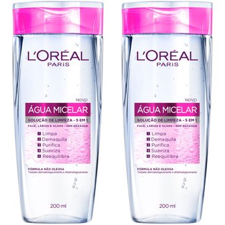 Kit Água Micelar L'Oréal Paris 200 ml 2 Unidades