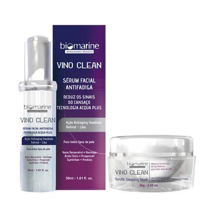 Kit Anti Idade Vino Clean Biomarine Mascara e Serum