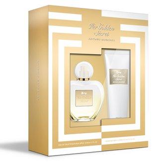 Kit Antonio Banderas Her Golden Secret Eau de Toilette feminino 80ml + Hidratante Corporal 75ml