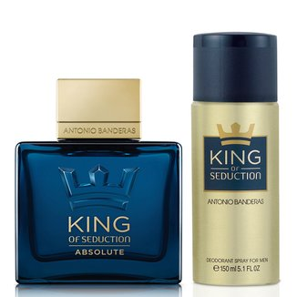 Kit Antonio Banderas Perfume Masculino King Of Seduction Absolute EDT 100ml + Desodorante 150ml