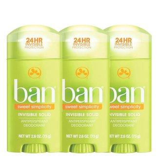 Kit Ban Sweet Simplicity  3 Desodorantes Sólidos