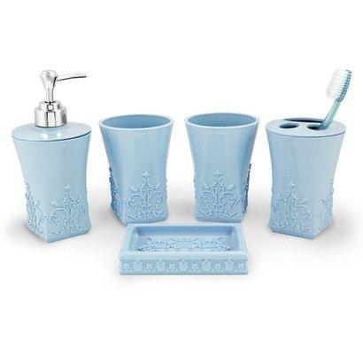 Kit Banheiro Com 5 Peças Jacki Design