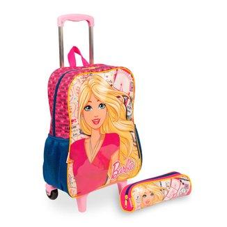 Kit Barbie 13M Infantil Sestini - Mochilete + Estojo