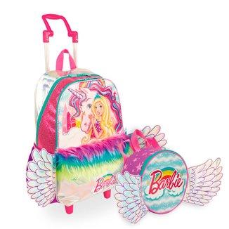Kit Barbie Dreamtopia 3 Infantil Sestini - Mochilete + Lancheira Feminino