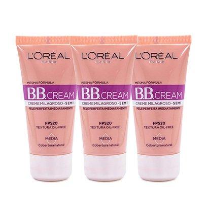 Oferta ➤ Kit BB Cream L'Oreál Paris Dermo Expertise Base Média 30ml 3 Unidades   . Veja essa promoção