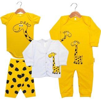 Kit Bebê Nigambi Girafinha 4 peças Unissex