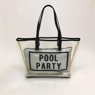 Kit Bolsa Alça Dupla Pool Party + Necessaire