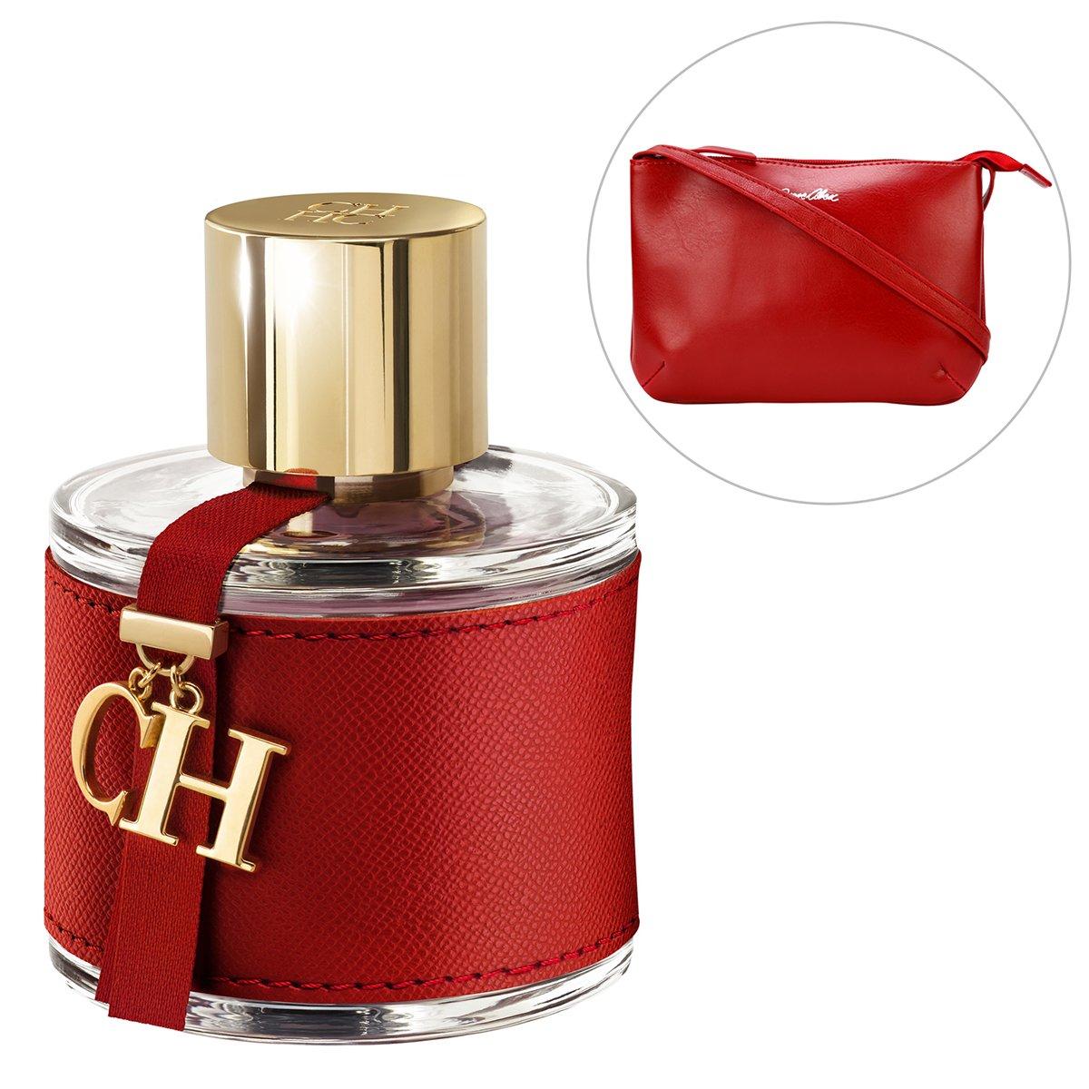 7101bb6a0f606 Kit Bolsa Jorge Alex Transversal Vermelho + Perfume Carolina Herrera CH EDT  100ml - Compre Agora