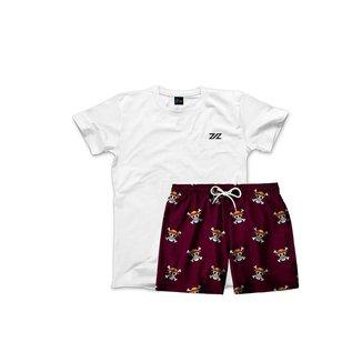 Kit Borzzi Wear Short One Piece Praia e Camiseta Casual Masculino