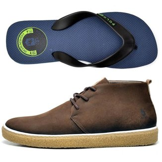 Kit Bota + Chinelo Top Franca Shoes