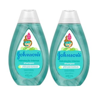 Kit c/ 2 Shampoo Johnson's Baby Hidratação Intensa 400ml