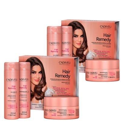 Kit Cadiveu Hair Remedy 1 Shampoo 250Ml + 1 Cond. 980Ml + 1 Sérum 15 Em 1 Leave-In 50Ml-Feminino
